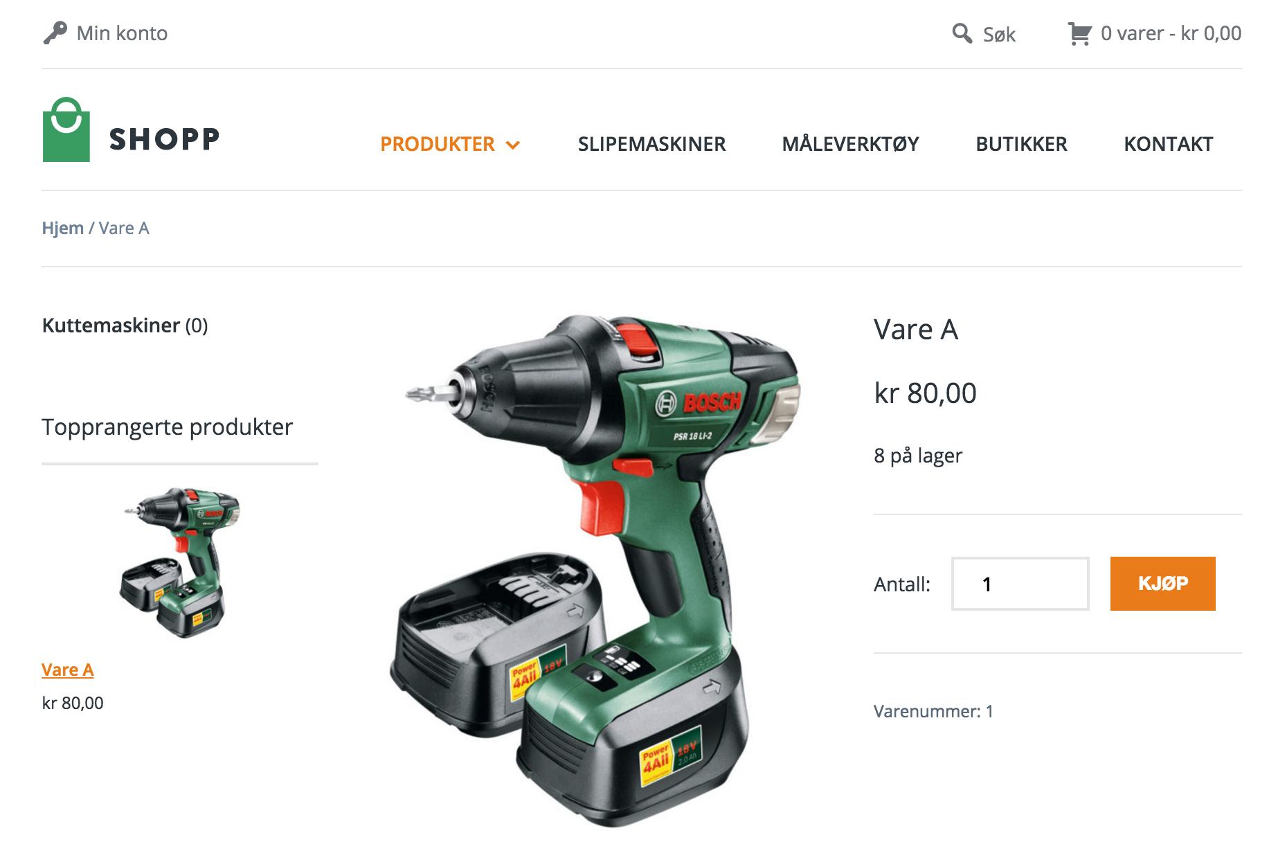 63a10058 Visma eAccounting nettbutikk integrasjon varelager - Integrert Nettbutikk